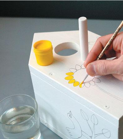 Раскрасить скворечник своими руками фото 62