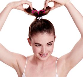 Прическа для длинных волос с резинкой-браслетом
