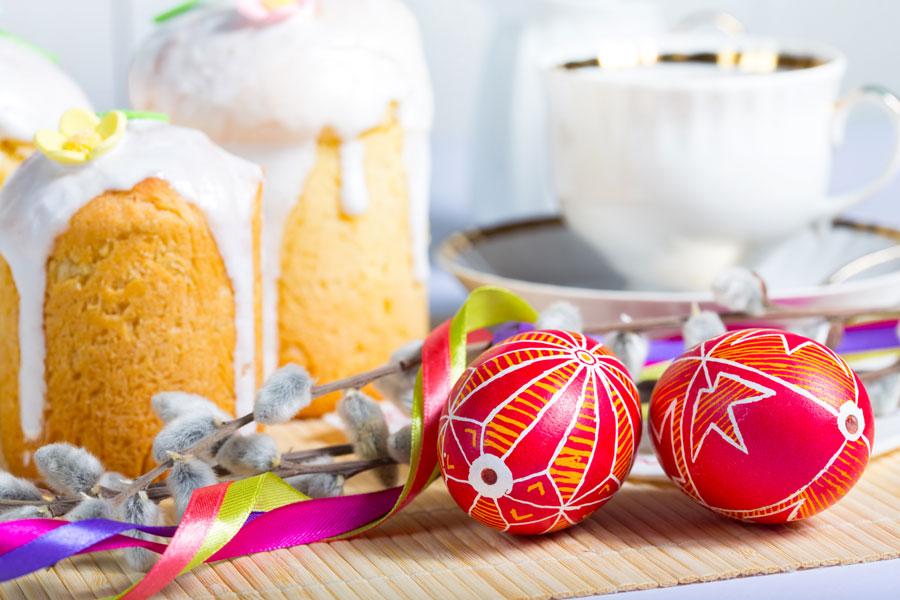 Пасхальные яйца сконфетти