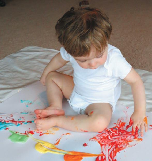 Простая краска для рисования пальцами