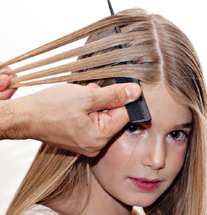 Прическа для прямых волос