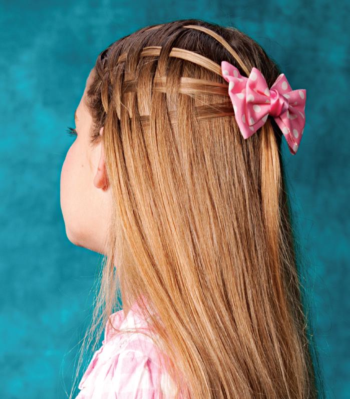 Прическа для длинных волос своими руками