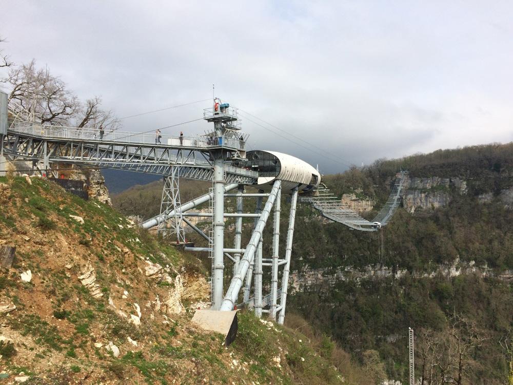 Скайпарк AJHackett Sochi— самый длинный подвесной мост вгорах