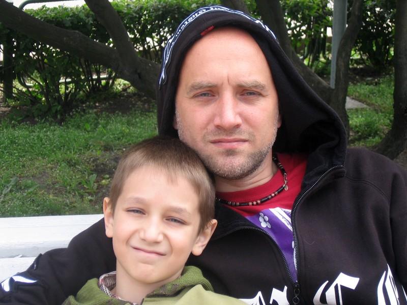 Со старшим сыном Глебом