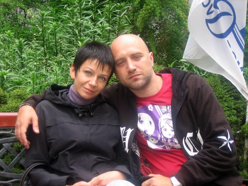 С женой. Фото Юлии Лушиной
