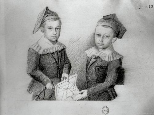 Тургенев сбратом Николаем вдетстве (Николай слева, Иван справа)