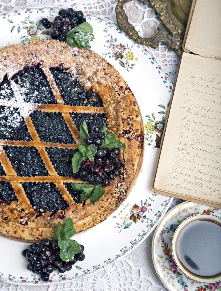 Пирог счерникой, рецепт