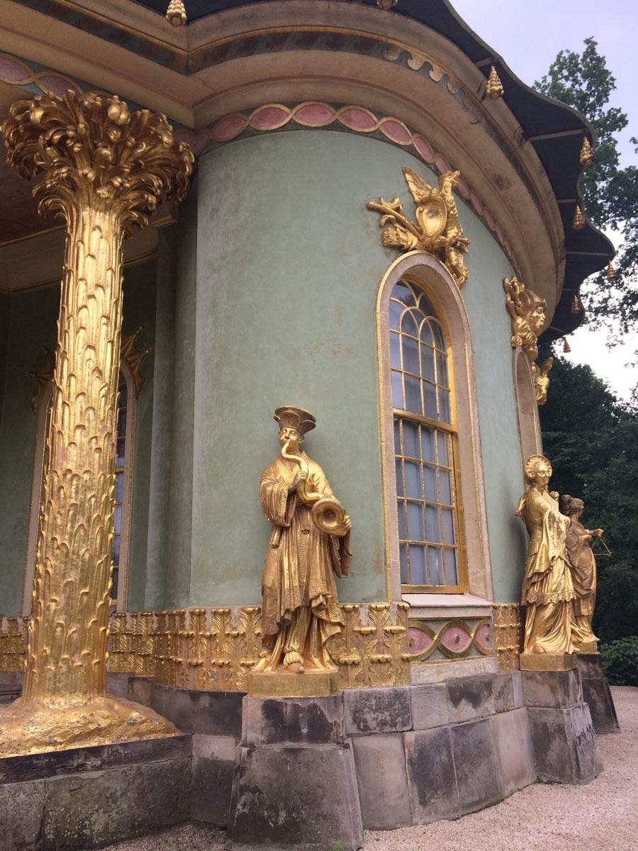 Китайский павильон в парке Сан-Суси