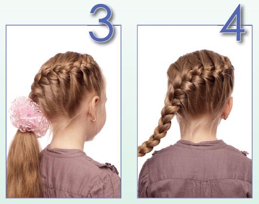 Французская коса вокруг головы: прическа вшколу