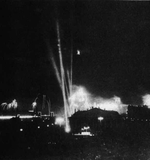Сентябрь 1947. Салют вовремя празднования Дня города