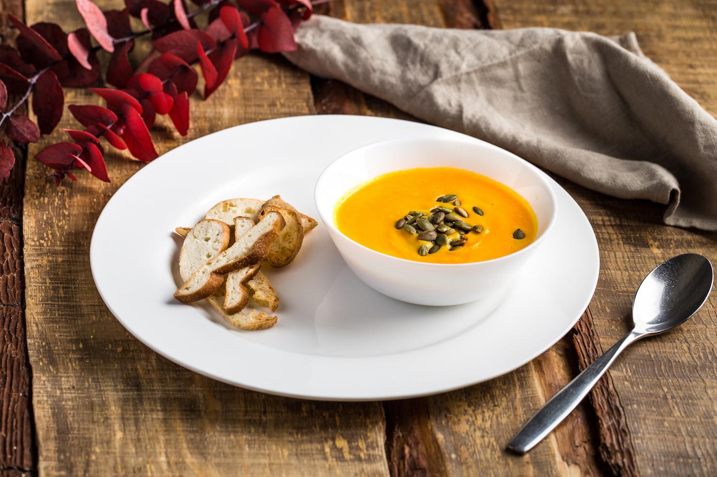 Пикантный суп-пюре изтыквы