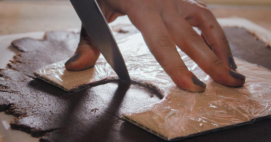 Выкройка пряничного домика, изготовление деталей