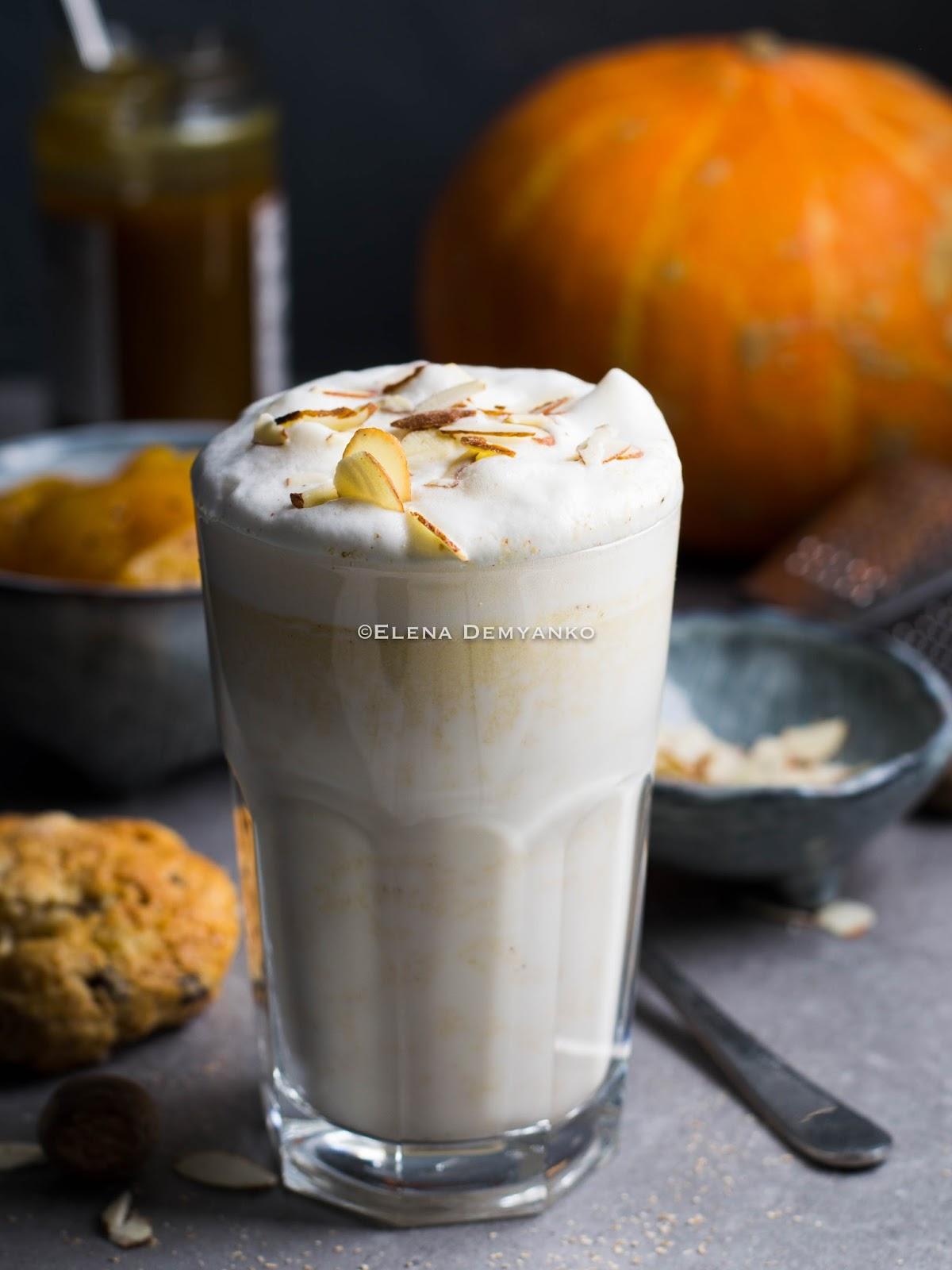 Пряный тыквенный латте, рецепт наХэллоуин