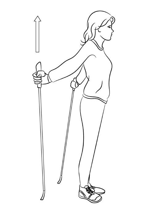 Разминка перед занятиями скандинавской ходьбой