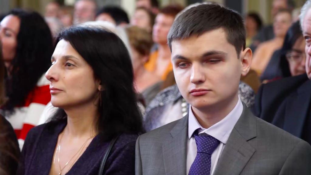 Николай смамой Ириной Кузнецовой