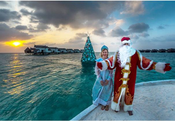 Мальдивы все включено— даже Дед Мороз