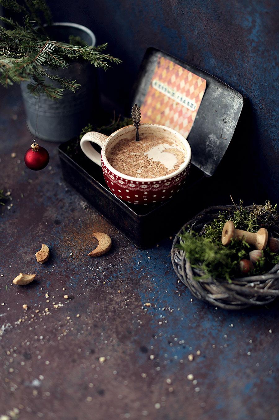 Рецепт какао скорицей иимбирным печеньем