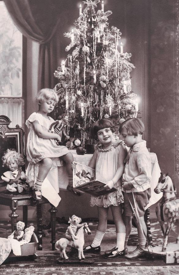 Новогодние фото открытки 1900, позитив