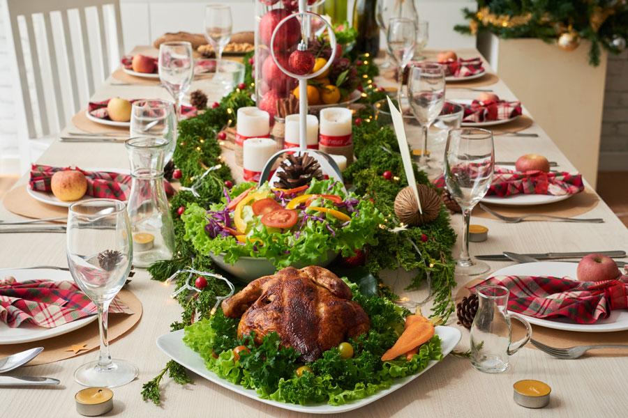 Вредная еда на новогоднем столе