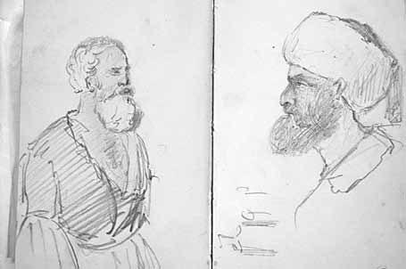 Кавказские типы. Рисунки Л.Н. Толстого иззаписной книжки 1855–1857
