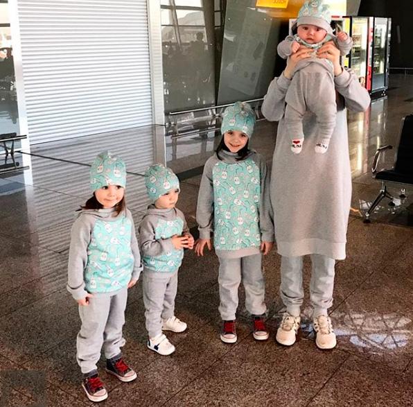 Жена и дети Мансура Шангареева