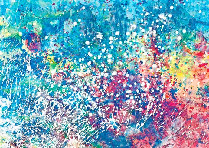 Вспышки цвета, акрил, март 2013