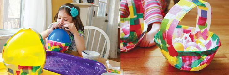 Пасхальная корзинка для яиц своими руками