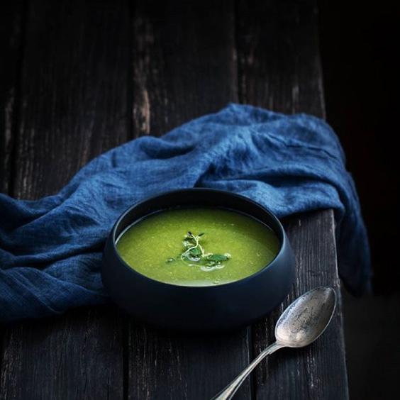 Луковый суп соспаржей