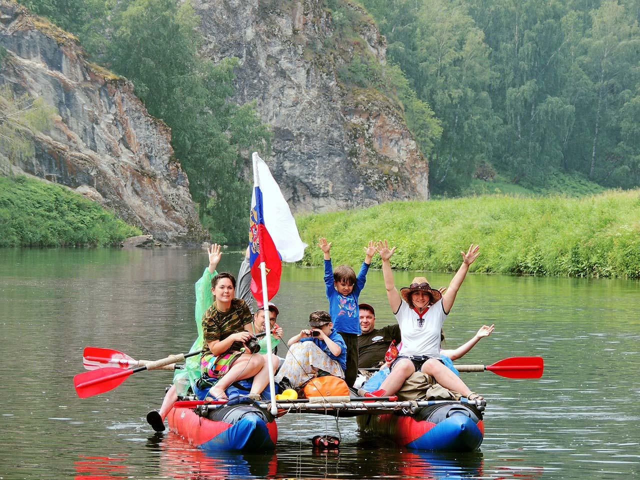 Сплав с детьми по реке Исеть
