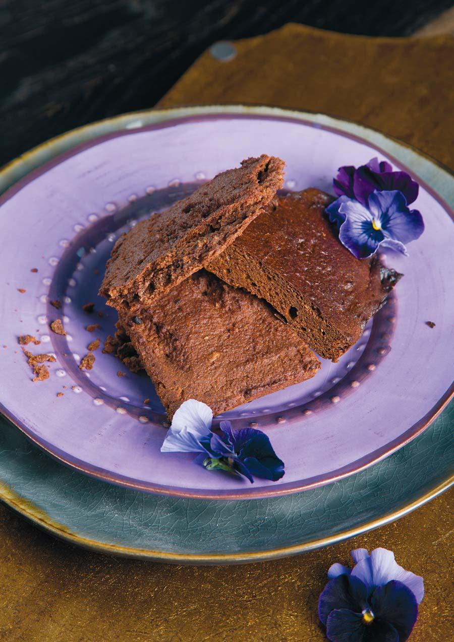 Кекс из сладкого картофеля с маслом какао