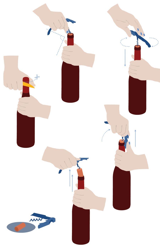 Открывать бутылку как профи совсем несложно