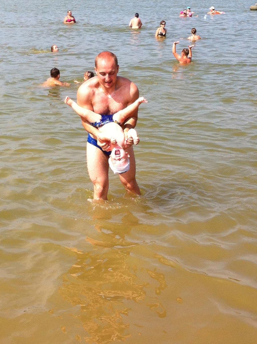 Пляж на реке Вычегде
