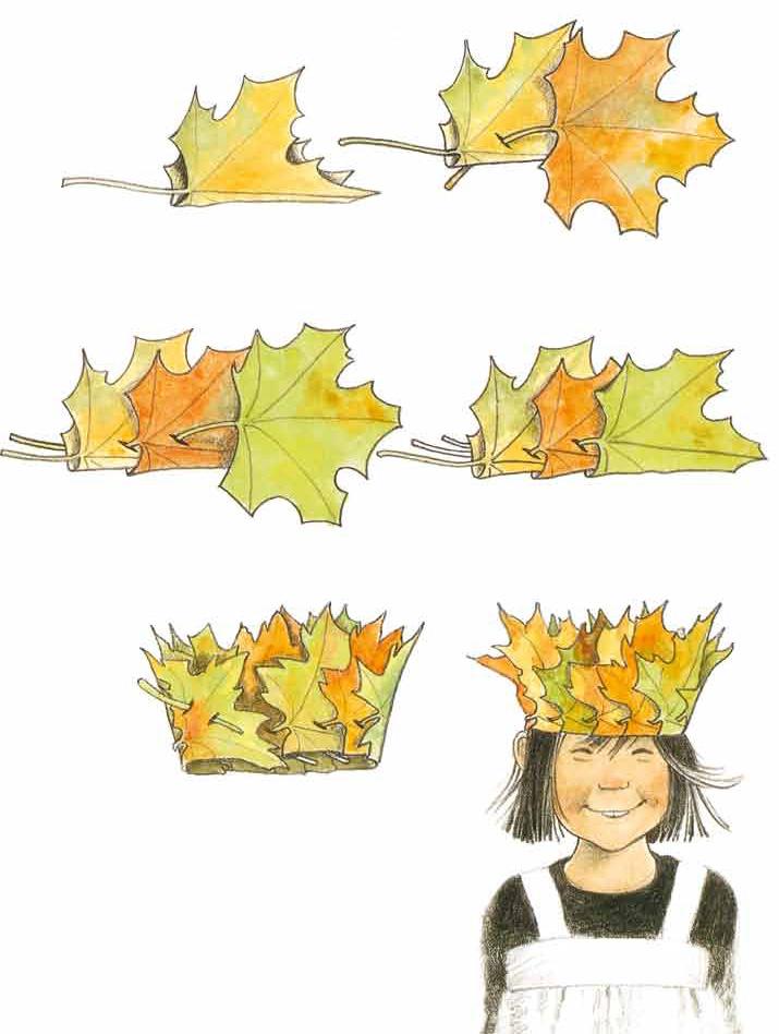 Венок изосенних листьев своими руками