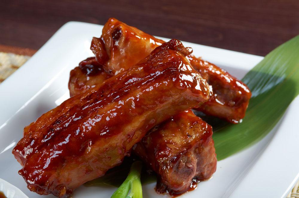 Свинина по-китайски вкисло-сладком соусе