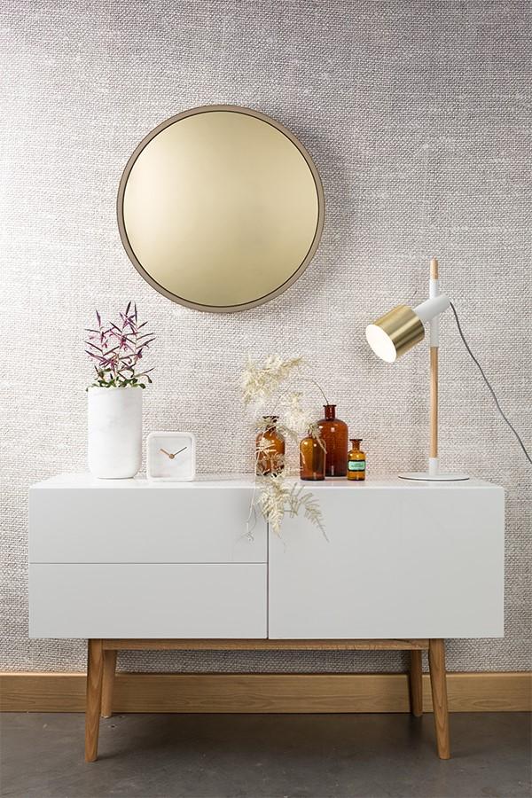 Зеркало Bandit золотое голландского бренда Zuiver