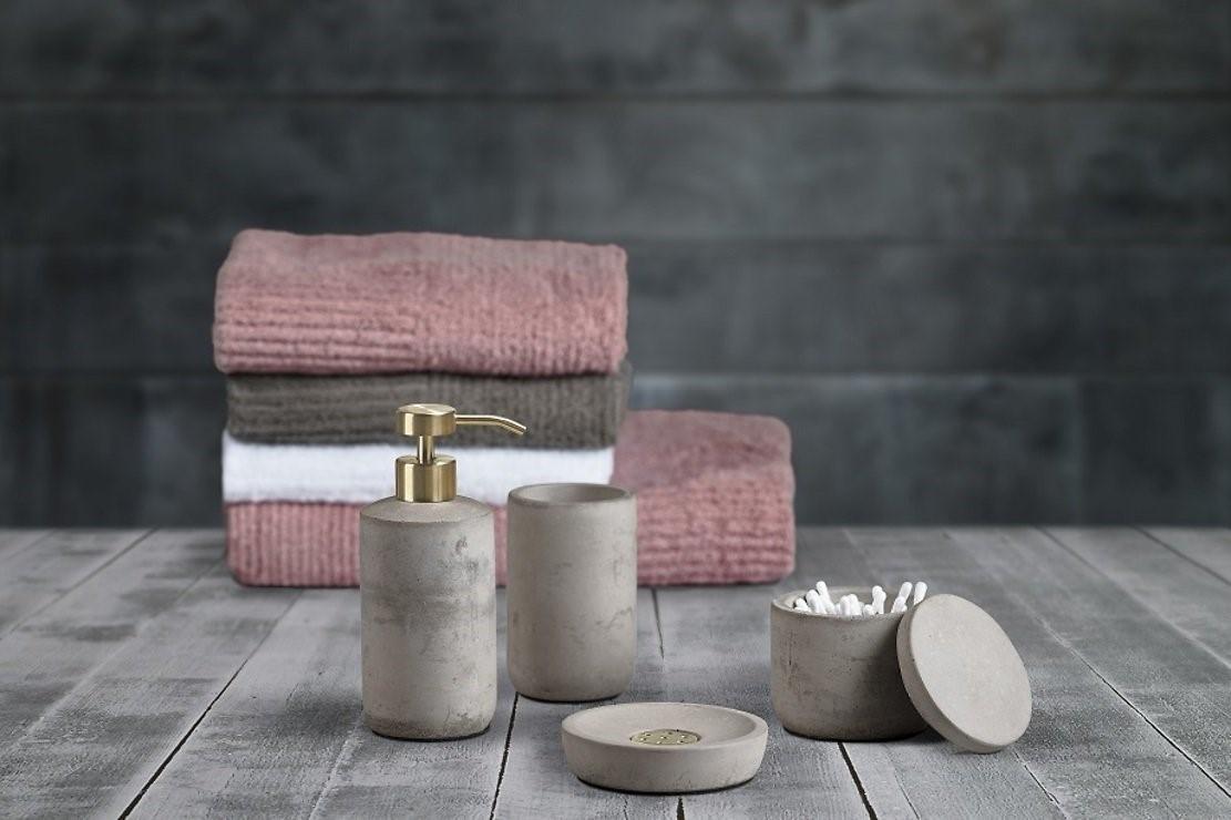 Диспенсер для жидкого мыла, мыльница ибанка для ванной комнаты коллекции Saxo датского бренда ZONE DENMARK