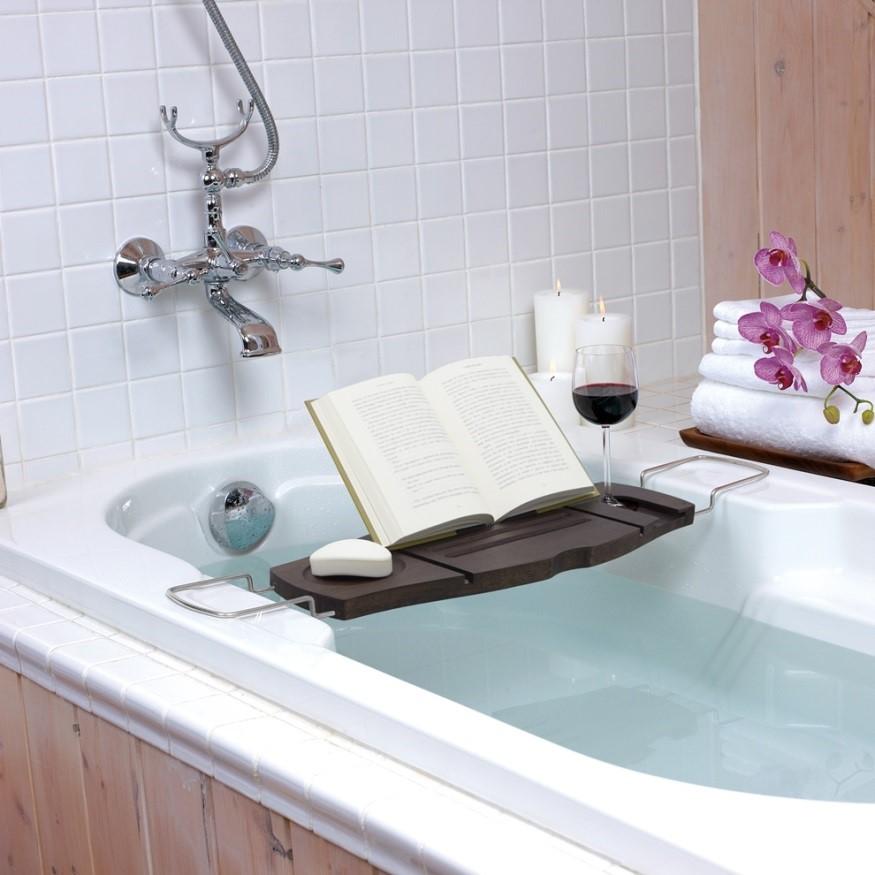 Полка для ванной Aquala орех бренда Umbra