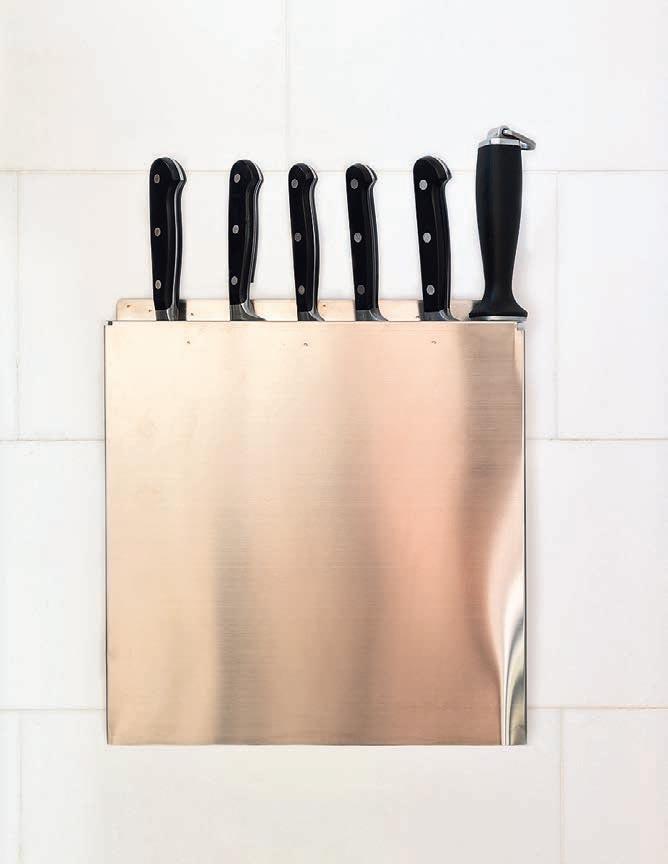 Навесной держатель для ножей излегкой нержавеющей стали