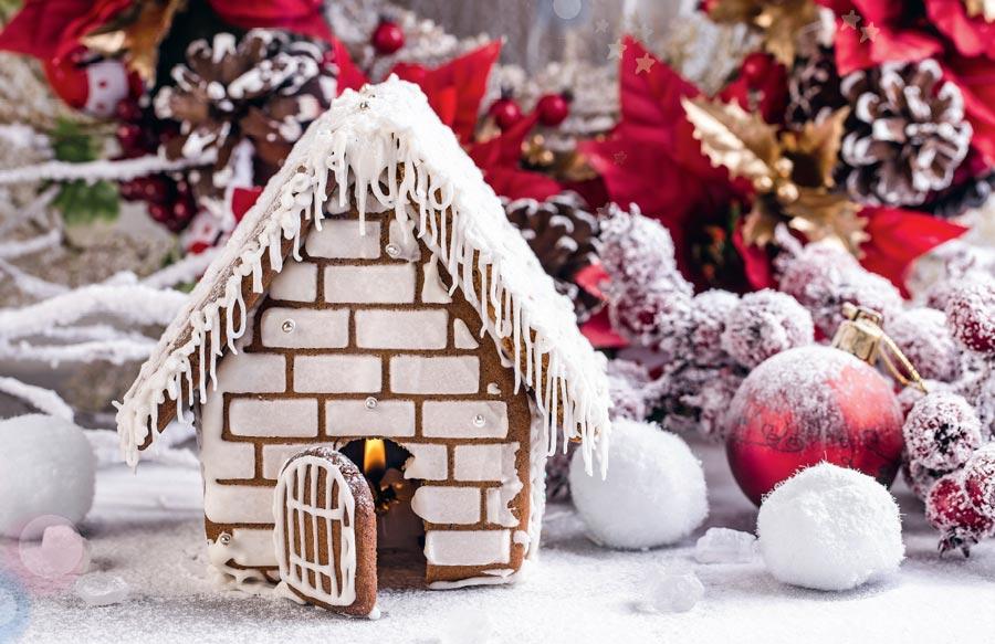 Подарок к Новому году - пряничный домик