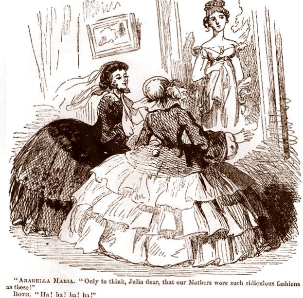 Джулия, дорогая, ктобы мог подумать, что наши матери носили такие смешные платья! Ха-ха-ха!