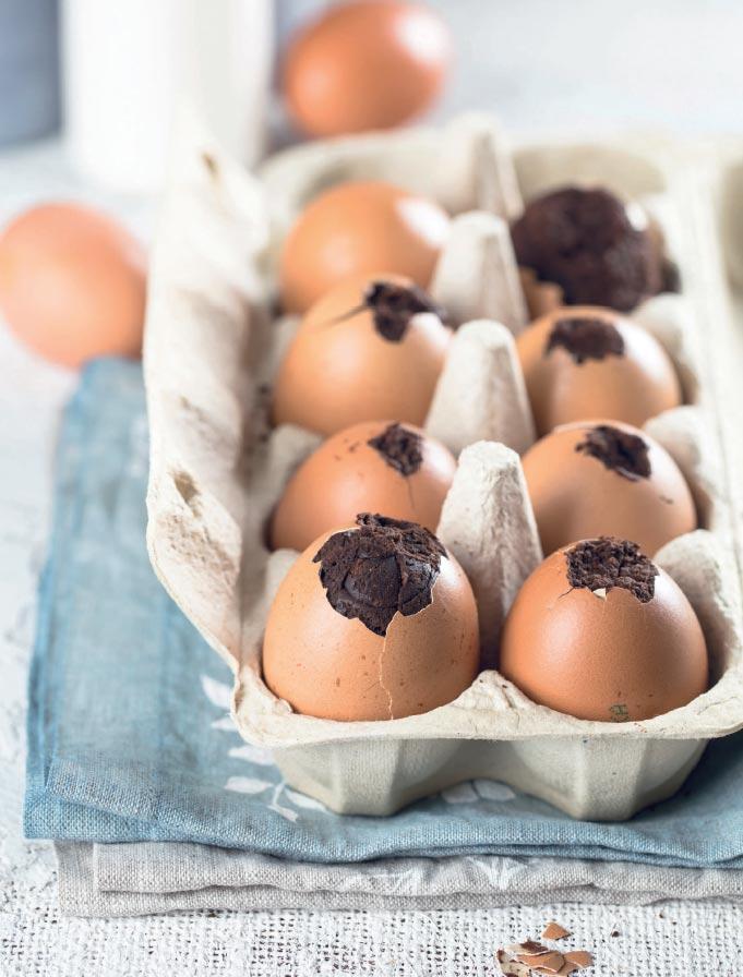Шоколадные яйца вскорлупе