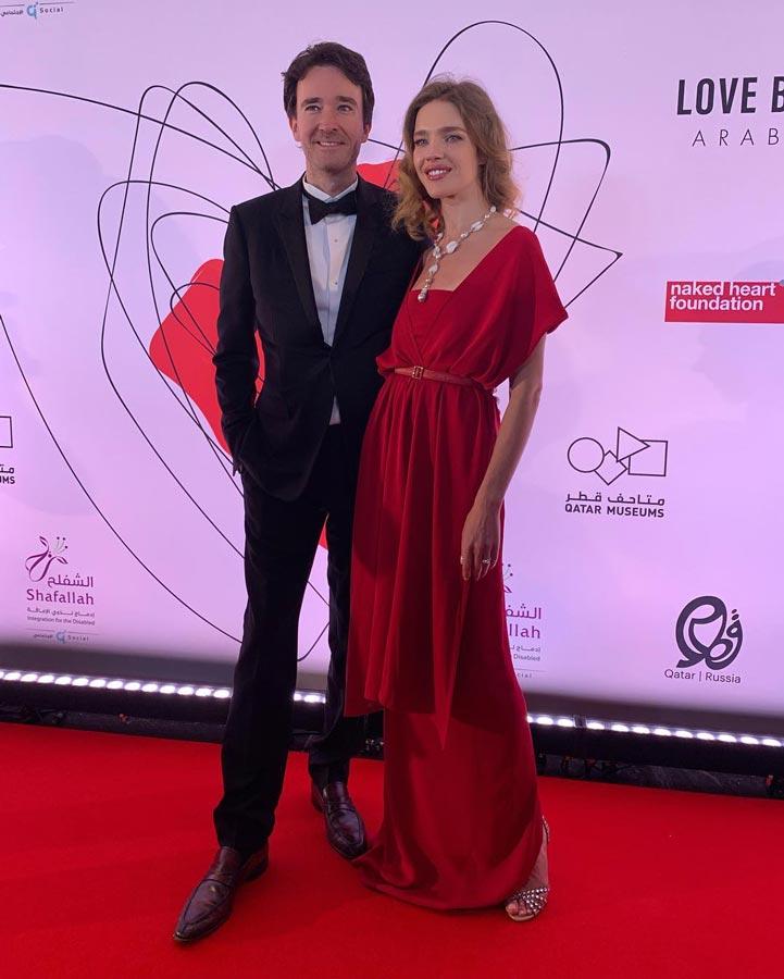 Наталья Водянова смужем Антуаном Арно наблаготворительном балу Love Ball вДохе (Катар), март 2019