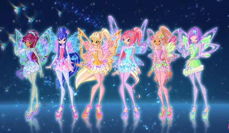 7сезон Winx Club: короткие платья иукрашения скристаллами