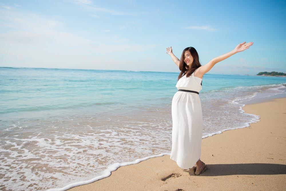 Пляжный отдых ибеременность