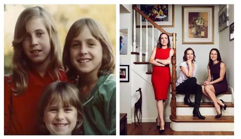 Сестры Wojcicki: Сьюзен, Джанет и Энн, в детстве и в молодости