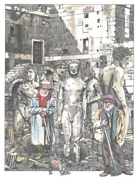 Кого изображают античные статуи