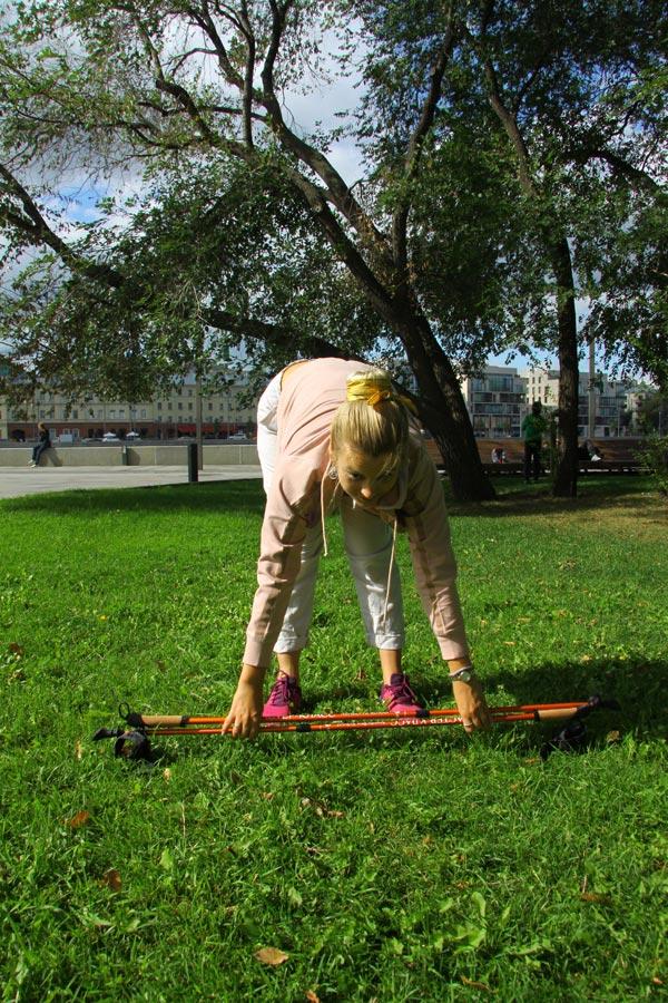 Пошаговая тренировка по скандинавской ходьбе
