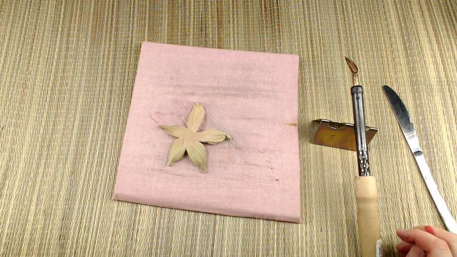 цветок из ткани пошагово