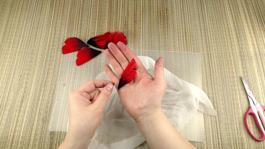 брошь-цветок из ткани в подарок