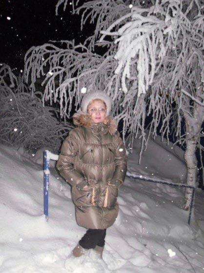 Дача после снегопада